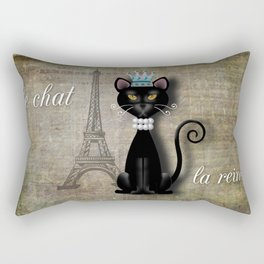 Le Chat, La Reine - The Cat, The Queen Rectangular Pillow