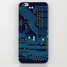 Dark Circuit Board iPhone & iPod Skin