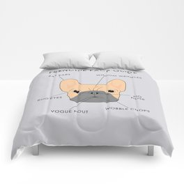 The French Bulldog Face Guide Comforters