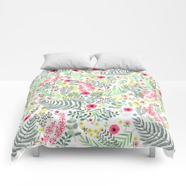 Flowers and Leaves Comforters
