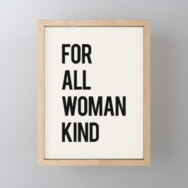 FOR ALL WOMANKIND Framed Mini Art Print