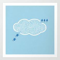 Maze Cloud Art Print