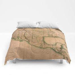 Map of North America Missouri Territory (1826) Comforters