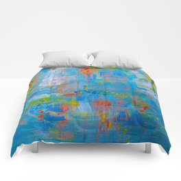 Colorful Abstract Wall Art, Vibrant colors, Contemporary home decor Comforters