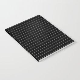 Black White Pinstripe Minimalist Notebook