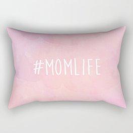 #Momlife - Pink Rectangular Pillow