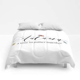 Autumn - a time to gather together Comforters