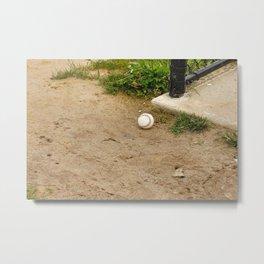 Lone Baseball Metal Print
