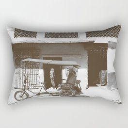 Old tricycle Rectangular Pillow