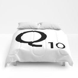 Letter Q - Custom Scrabble Letter Tile Art - Scrabble Q Initial Comforters