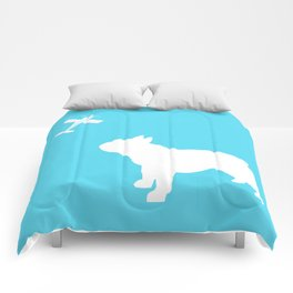 French Bull dog art Comforters
