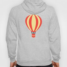 Classic Red and Yellow Hot Air Balloon Hoody