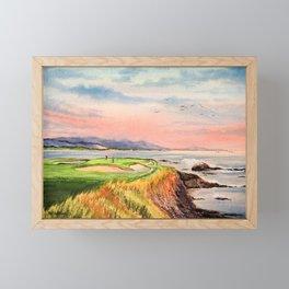 Pebble Beach Golf Course Hole 7 Framed Mini Art Print