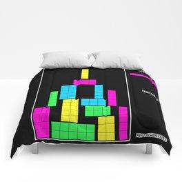 Level 1 black Comforters