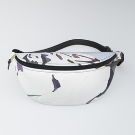 Mountains In The Cold Design Fanny Pack