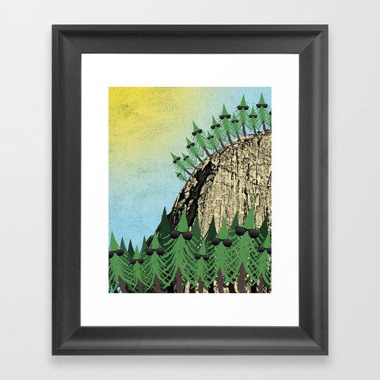 Sunning Trees Print Framed Art Print