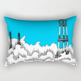 San Francisco - Sutro Tower (blue sky) Rectangular Pillow