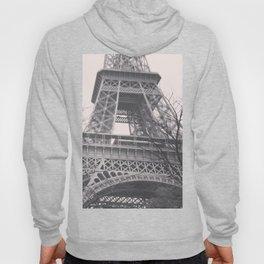 Eiffel tower, Paris, black & white photo, b&w fine art, tour, city, landscape photography, France Hoody