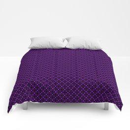 Purple Geometric Pattern Comforters