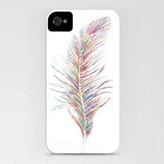 Rainbow Feather  Slim Case iPhone (4, 4s)