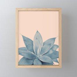 Blush Agave #3 #tropical #decor #art #society6 Framed Mini Art Print