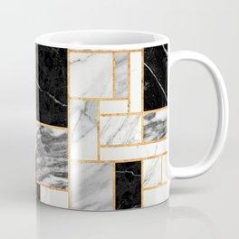 Random Pattern - Black and White Marble Coffee Mug