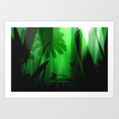 Deep in the rain forest. Art Print