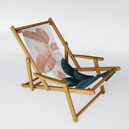 Blush & Blue Leaves Sling Chair