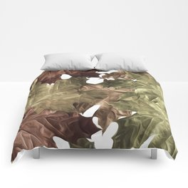 Faded Autumn Leaves Comforters
