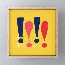 Exclamations! Framed Mini Art Print