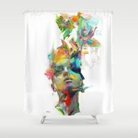 justice Shower Curtains featuring Dream Theory by Archan Nair
