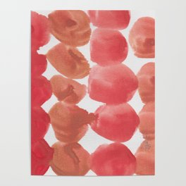 3    | 190408 Red Abstract Watercolour Poster
