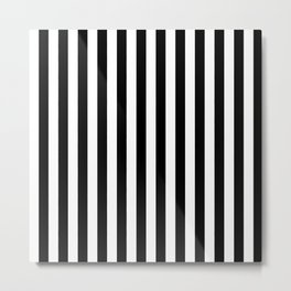 Black and white vertical stripes | Classic cabana Stripe Metal Print