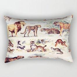 Vintage Antique Wildlife Encyclopedia Print Rectangular Pillow