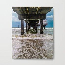 Gloomy Pier Metal Print