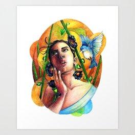 Bird whisperer Art Print
