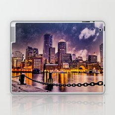 Skyline of Boston Harbor Laptop & iPad Skin