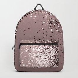 Sparkling Mauve Lady Glitter #1 #shiny #decor #art #society6 Backpack