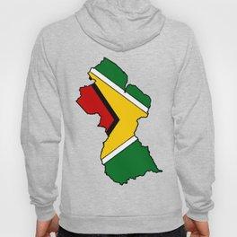 Guyana Map with Guyanese Flag Hoody
