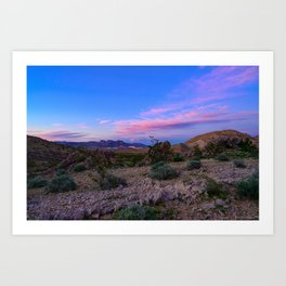 Sunset - Lake_Mead_National_Recreational_Area, Nevada Art Print