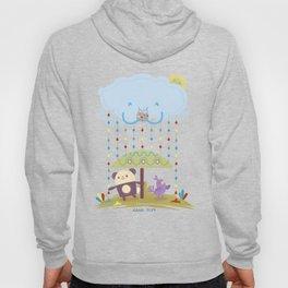 color raindrops keep falling on my head Hoody