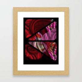 swirled pink Framed Art Print
