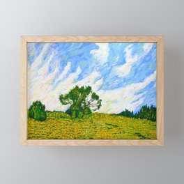 Hill With Tree Off of I-476 (World on Fire) Framed Mini Art Print