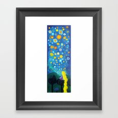 Looking From a window Framed Art Print