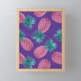 Colorful pineapples Framed Mini Art Print