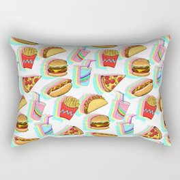 Rainbow Fast Food Rectangular Pillow