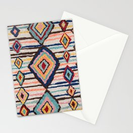 Heritage Multicolore Morocco Berber Rug  Stationery Cards
