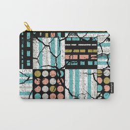Distressed pattern Carry-All Pouch