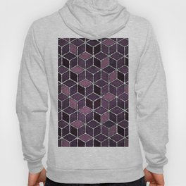 Shades Of Purple & Pink Cubes Pattern Hoody