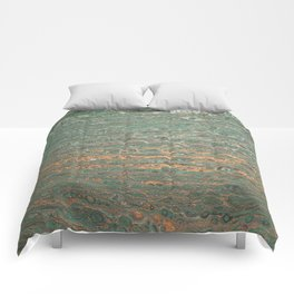 fluid coppered teal Comforters